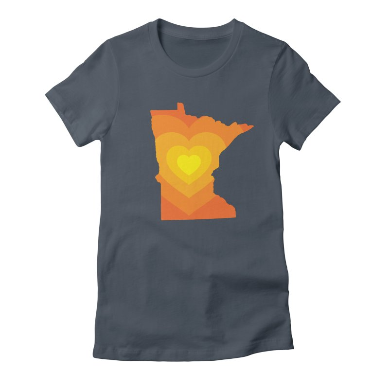 Heart of MN Women's T-Shirt by Logo Mo Doodles, Drawings, and Designs