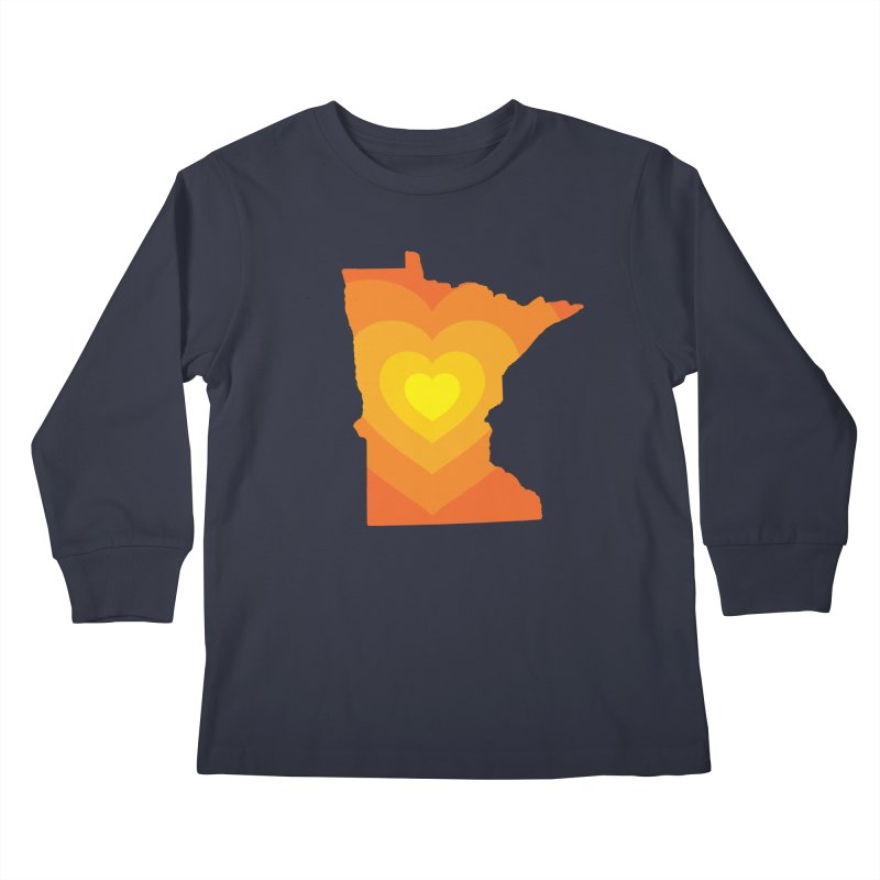 Heart of MN Kids Longsleeve T-Shirt by Logo Mo Doodles, Drawings, and Designs