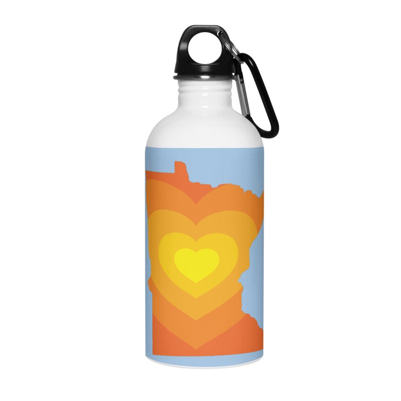 Heart of MN Accessories Water Bottle by Logo Mo Doodles, Drawings, and Designs