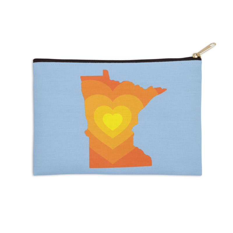 Heart of MN Accessories Zip Pouch by Logo Mo Doodles, Drawings, and Designs