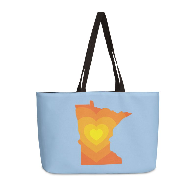 Heart of MN Accessories Weekender Bag Bag by Logo Mo Doodles, Drawings, and Designs