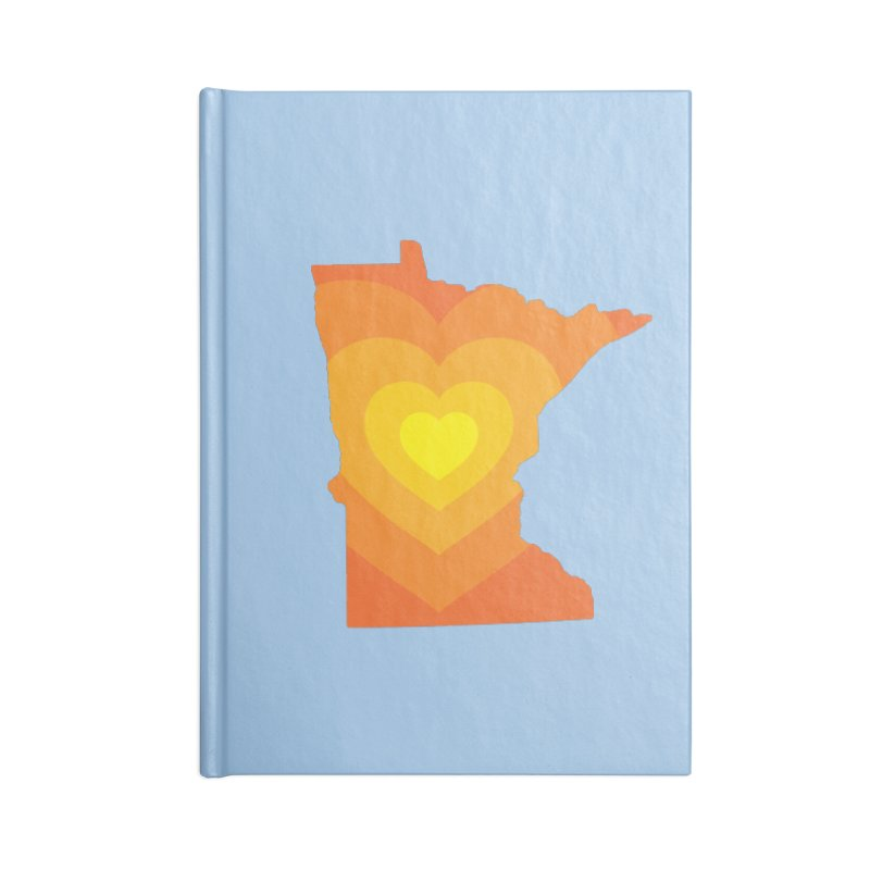 Heart of MN Accessories Lined Journal Notebook by Logo Mo Doodles, Drawings, and Designs