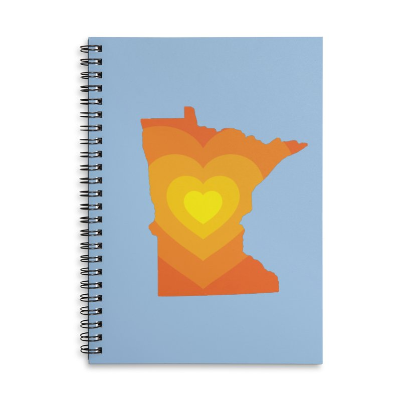 Heart of MN Accessories Lined Spiral Notebook by Logo Mo Doodles, Drawings, and Designs