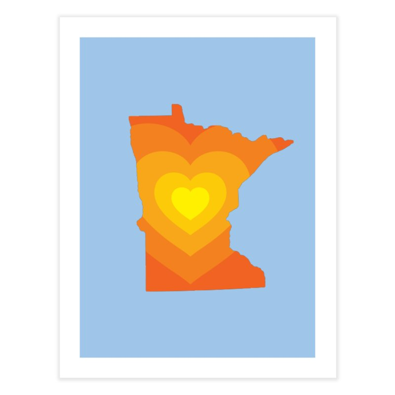 Heart of MN Home Fine Art Print by Logo Mo Doodles, Drawings, and Designs