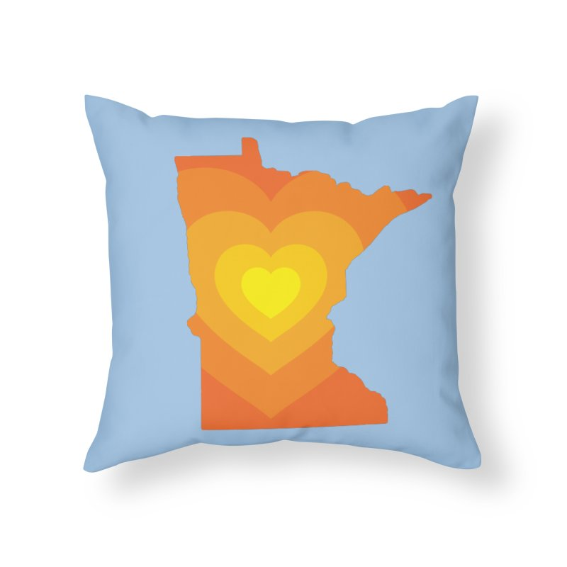 Heart of MN Home Throw Pillow by Logo Mo Doodles, Drawings, and Designs