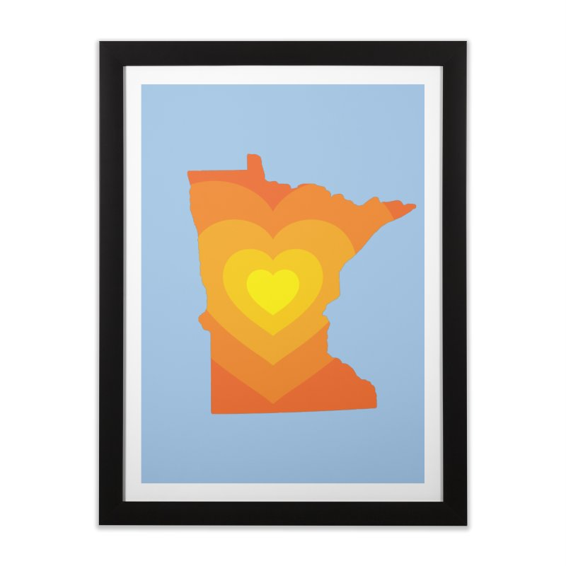Heart of MN Home Framed Fine Art Print by Logo Mo Doodles, Drawings, and Designs