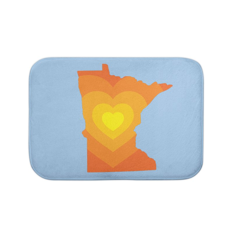 Heart of MN Home Bath Mat by Logo Mo Doodles, Drawings, and Designs