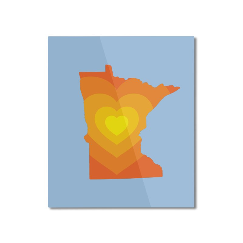 Heart of MN Home Mounted Aluminum Print by Logo Mo Doodles, Drawings, and Designs