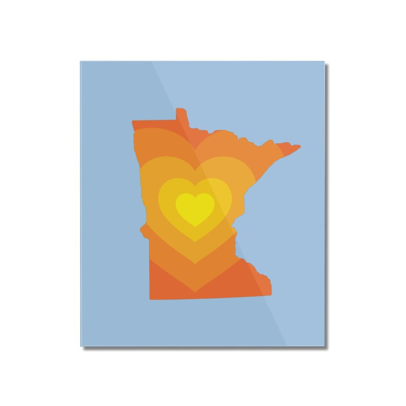 Heart of MN Home Mounted Acrylic Print by Logo Mo Doodles, Drawings, and Designs