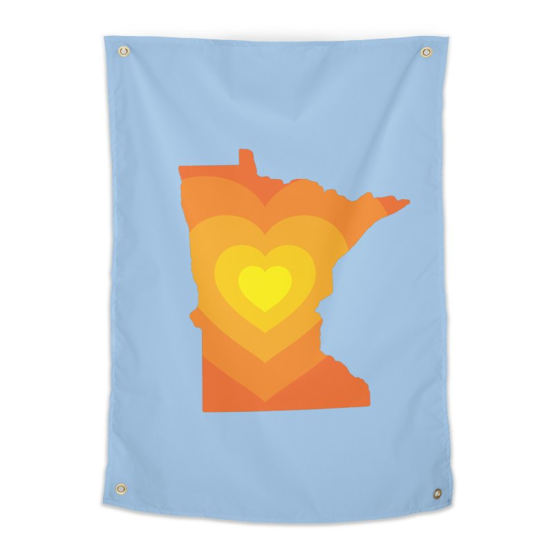 Heart of MN Home Tapestry by Logo Mo Doodles, Drawings, and Designs