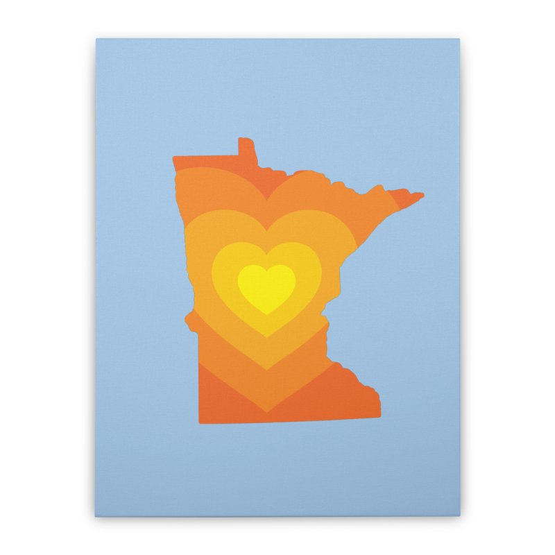 Heart of MN Home Stretched Canvas by Logo Mo Doodles, Drawings, and Designs