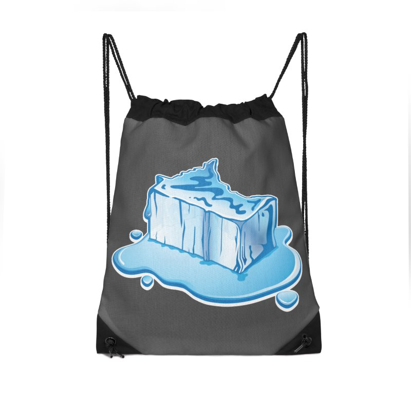 Stay Cool Minnesota! Accessories Drawstring Bag Bag by Logo Mo Doodles, Drawings, and Designs