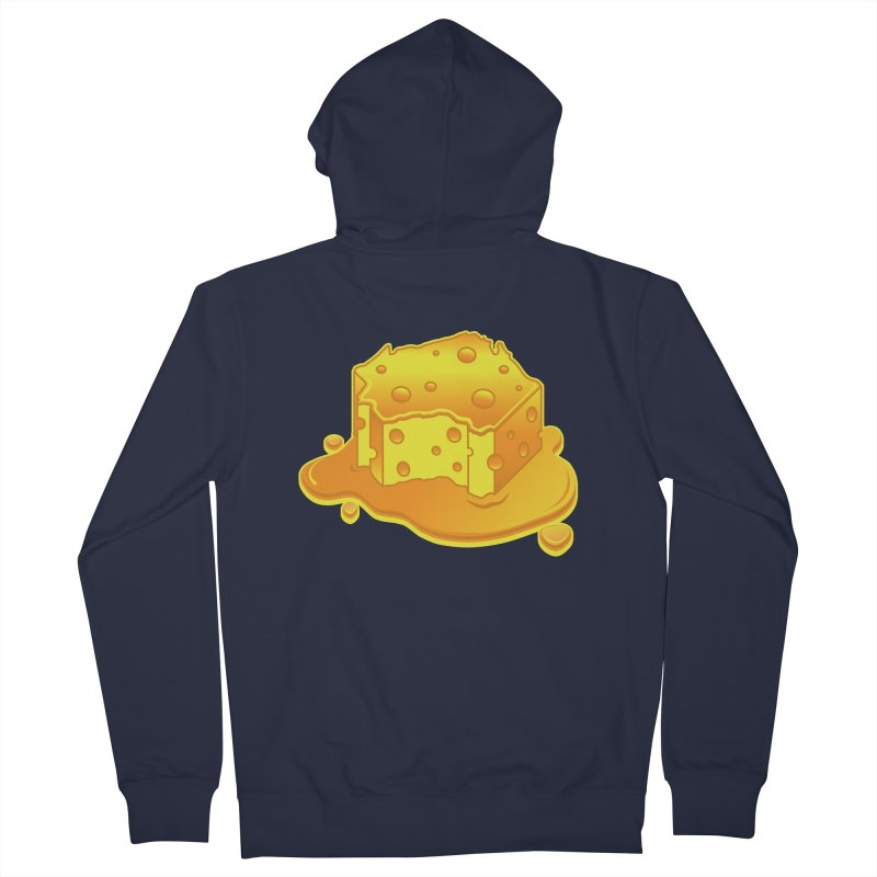 Stay Cheesy Wisconsin! Women's French Terry Zip-Up Hoody by Logo Mo Doodles, Drawings, and Designs