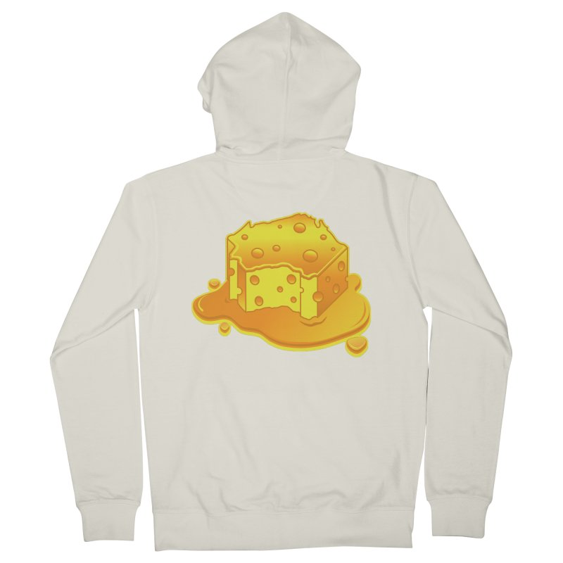 Stay Cheesy Wisconsin! Men's French Terry Zip-Up Hoody by Logo Mo Doodles, Drawings, and Designs
