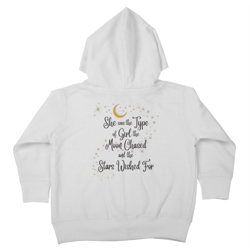 Moon Chased Stars Wished Kids Toddler Zip-Up Hoody by Logo Mo Doodles, Drawings, and Designs