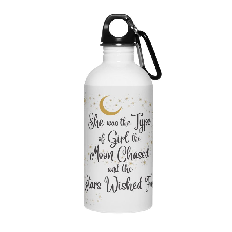 Moon Chased Stars Wished Accessories Water Bottle by Logo Mo Doodles, Drawings, and Designs