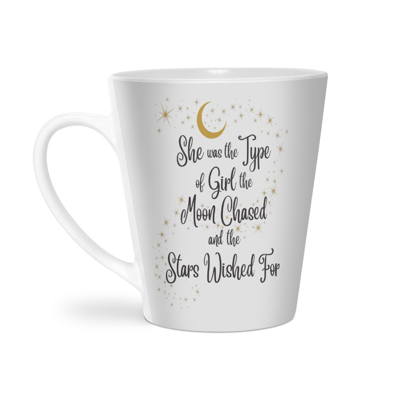 Moon Chased Stars Wished Accessories Latte Mug by Logo Mo Doodles, Drawings, and Designs