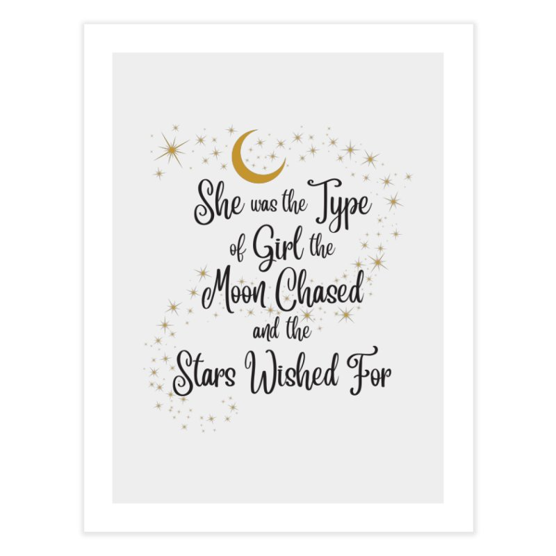 Moon Chased Stars Wished Home Fine Art Print by Logo Mo Doodles, Drawings, and Designs