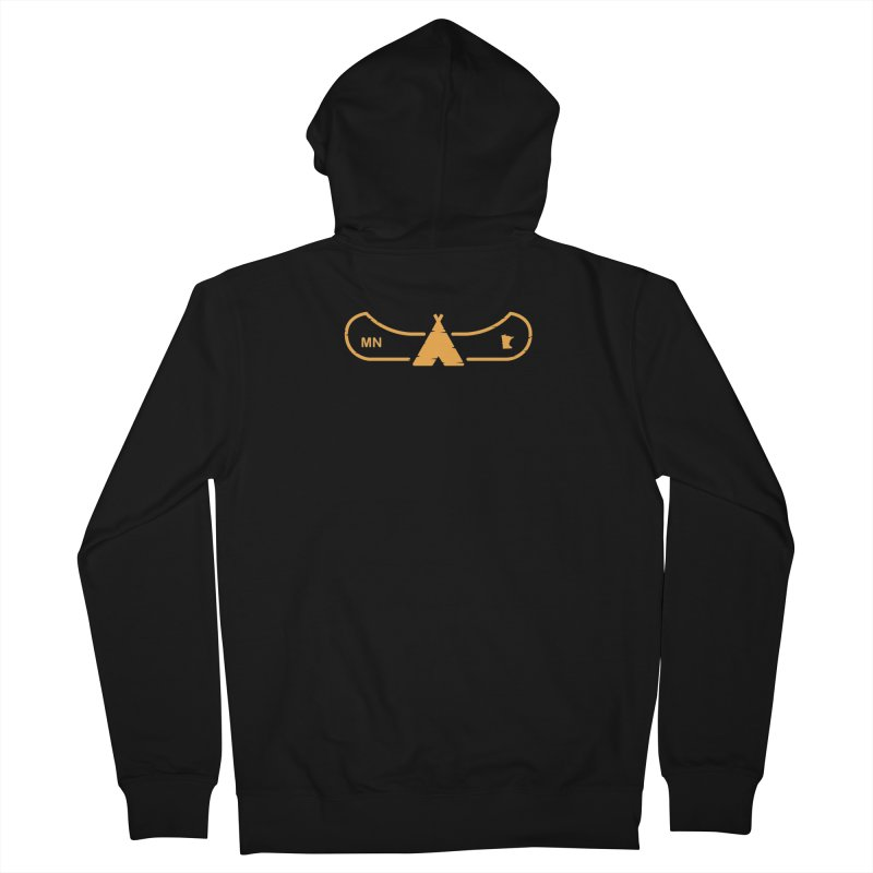 Canoe in Camping Sign (ORANGE) Men's French Terry Zip-Up Hoody by Logo Mo Doodles, Drawings, and Designs