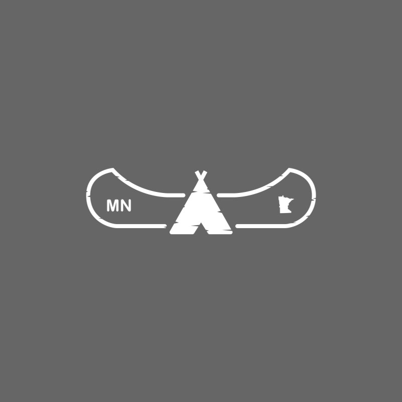 Canoe in Camping Sign (WHITE) by Logo Mo Doodles, Drawings, and Designs