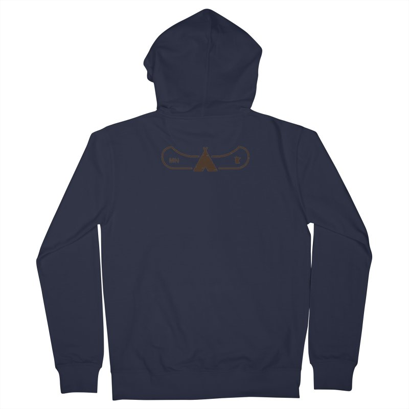 Canoe in Camping Sign (DARK BROWN) Women's French Terry Zip-Up Hoody by Logo Mo Doodles, Drawings, and Designs