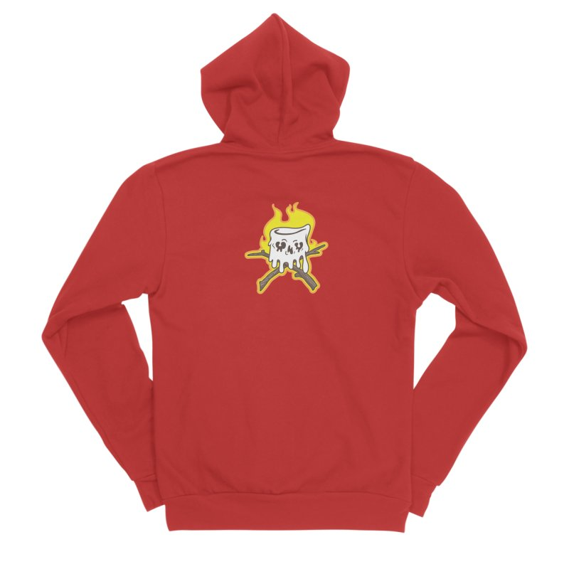 S'more Skull and Cross Sticks Small Front Men's Sponge Fleece Zip-Up Hoody by Logo Mo Doodles, Drawings, and Designs