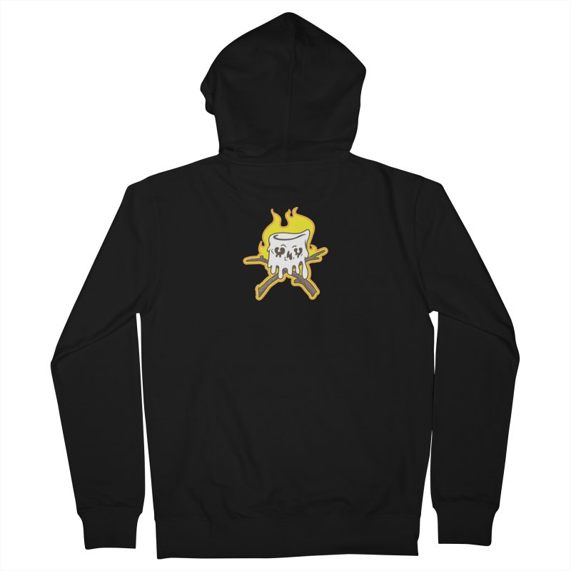 S'more Skull and Cross Sticks Small Front Women's French Terry Zip-Up Hoody by Logo Mo Doodles, Drawings, and Designs