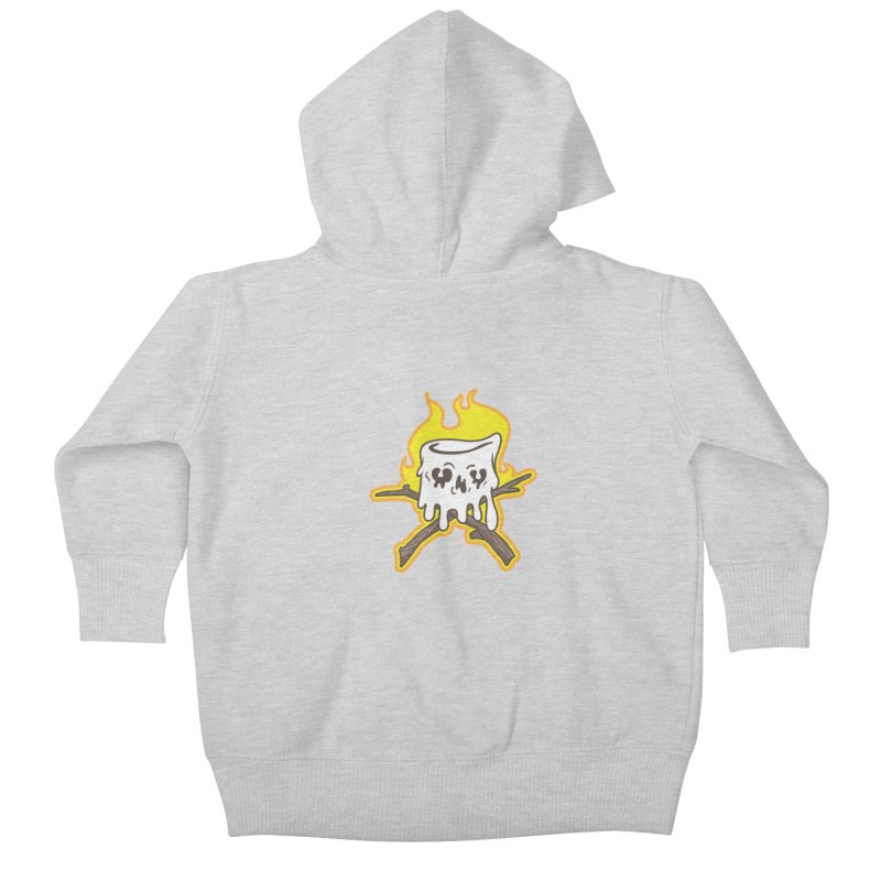 S'more Skull and Cross Sticks Small Front Kids Baby Zip-Up Hoody by Logo Mo Doodles, Drawings, and Designs