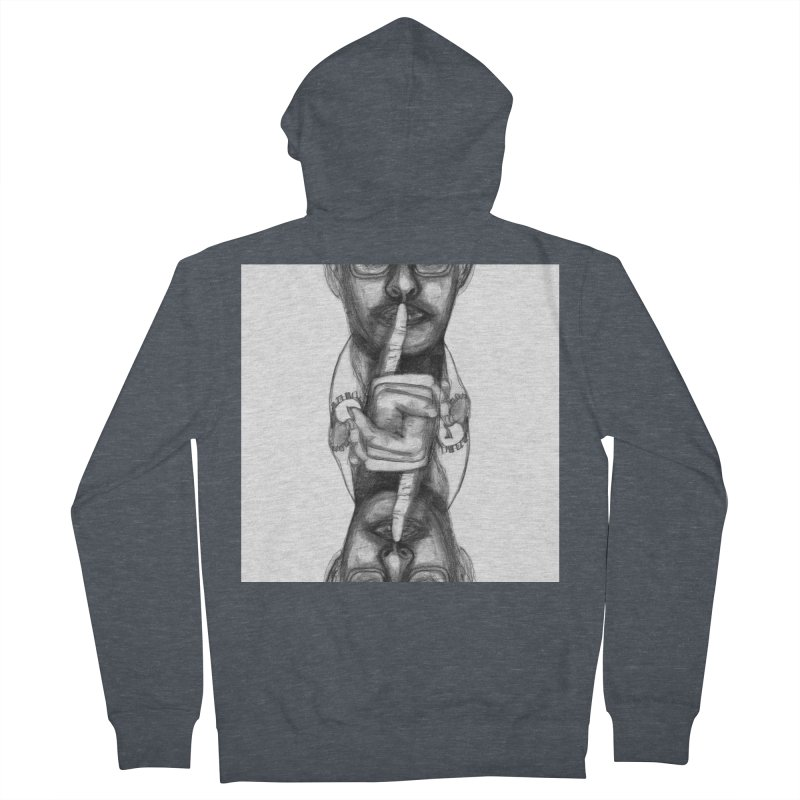 Bromance Handshake Collection Women's French Terry Zip-Up Hoody by Lola Liberta Artist Shop
