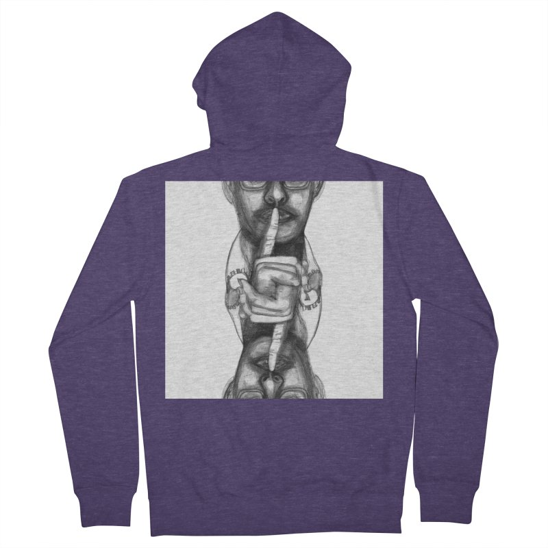 Bromance Handshake Collection Men's French Terry Zip-Up Hoody by Lola Liberta Artist Shop