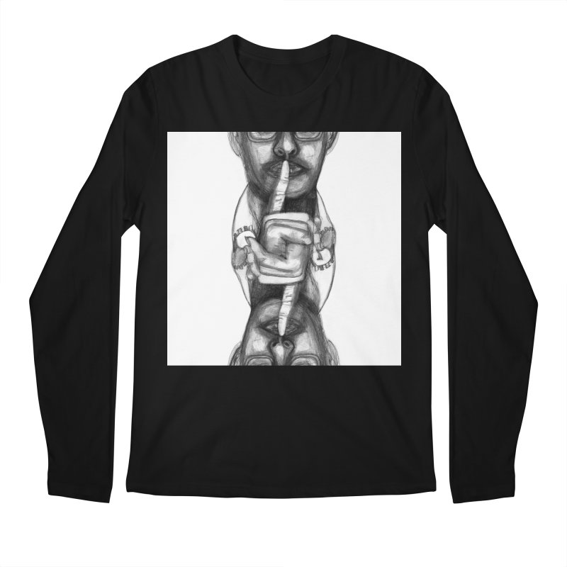Bromance Handshake Collection Men's Regular Longsleeve T-Shirt by Lola Liberta Artist Shop