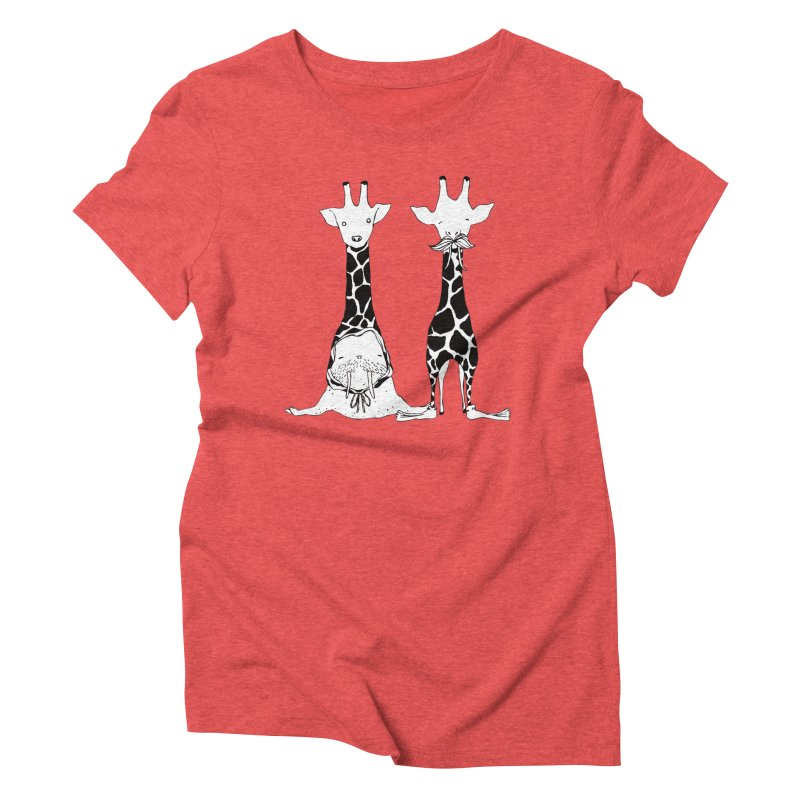 Twinning Women's Triblend T-shirt by The Lola x Kenneth Collaboration