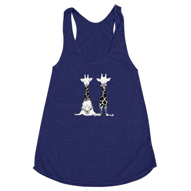Twinning Women's Racerback Triblend Tank by The Lola x Kenneth Collaboration