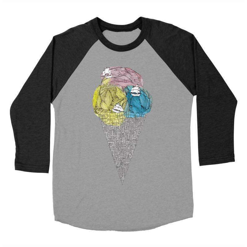 Loose Drips Sink Ships Men's Baseball Triblend Longsleeve T-Shirt by The Lola x Kenneth Collaboration
