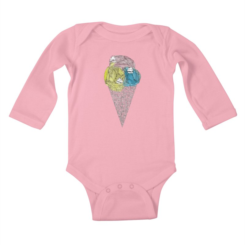 Loose Drips Sink Ships Kids Baby Longsleeve Bodysuit by The Lola x Kenneth Collaboration