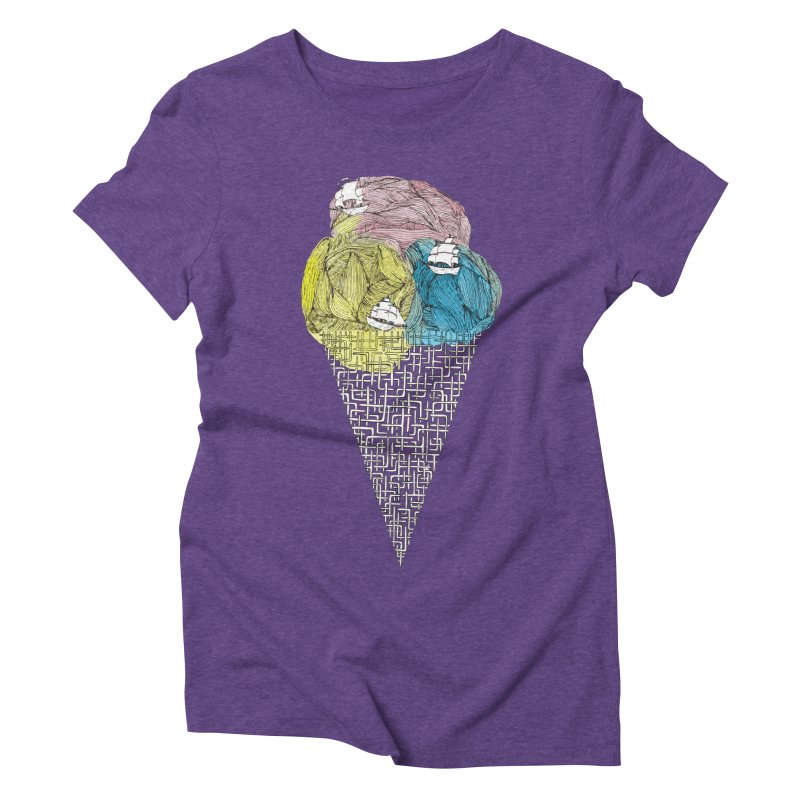 Loose Drips Sink Ships Women's Triblend T-Shirt by The Lola x Kenneth Collaboration