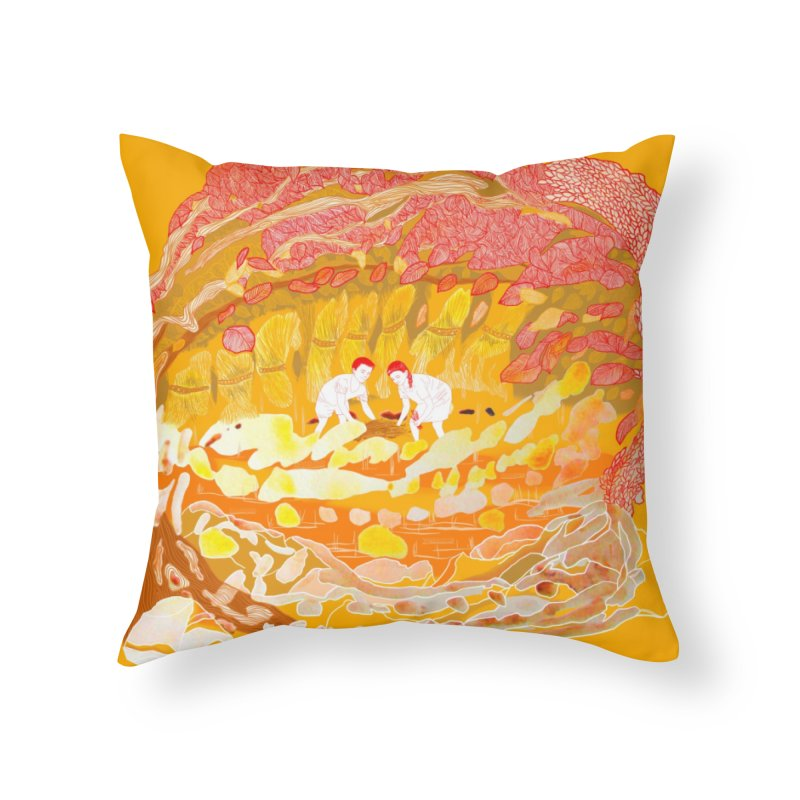 Anihan (Harvest Time) Home Throw Pillow by The Lola x Kenneth Collaboration