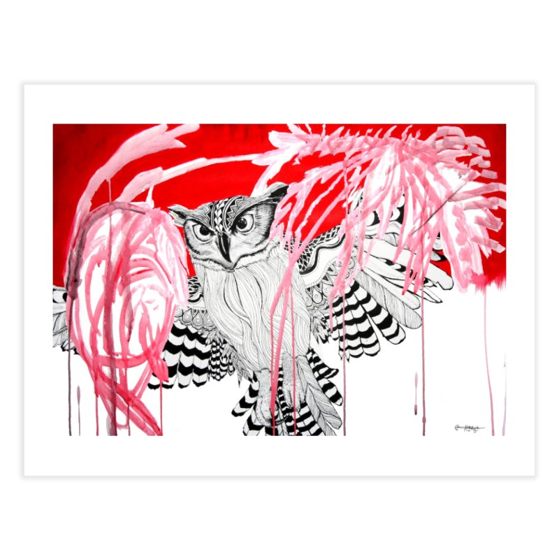 Owl Home Fine Art Print by The Lola x Kenneth Collaboration