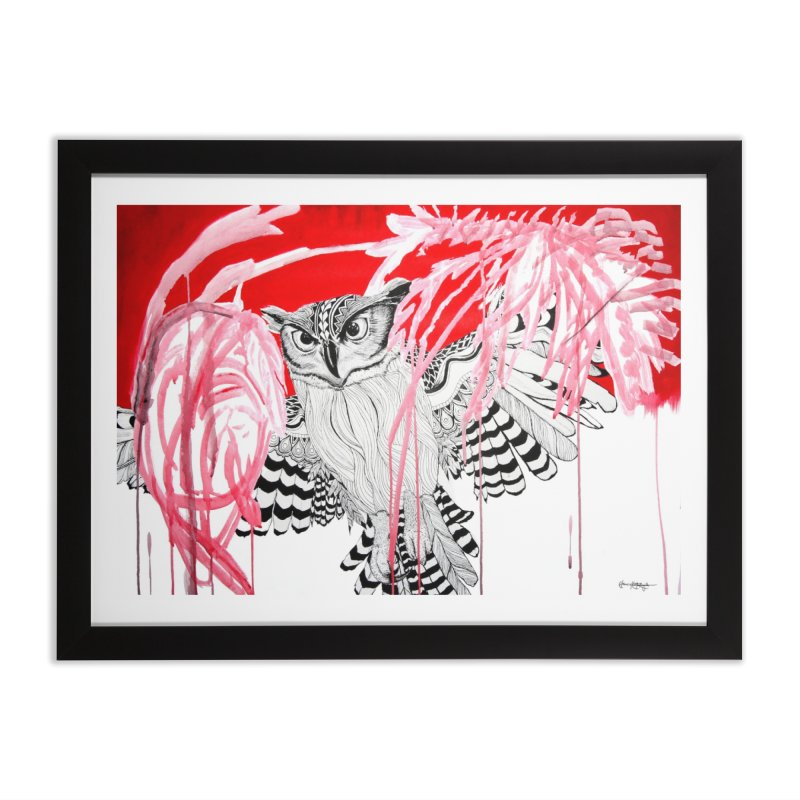 Owl Home Framed Fine Art Print by The Lola x Kenneth Collaboration
