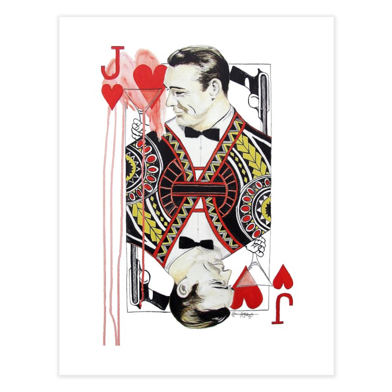 James Bond of Hearts Home Fine Art Print by The Lola x Kenneth Collaboration