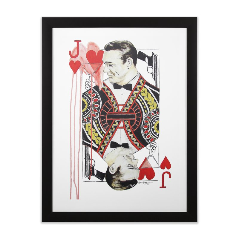 James Bond of Hearts Home Framed Fine Art Print by The Lola x Kenneth Collaboration