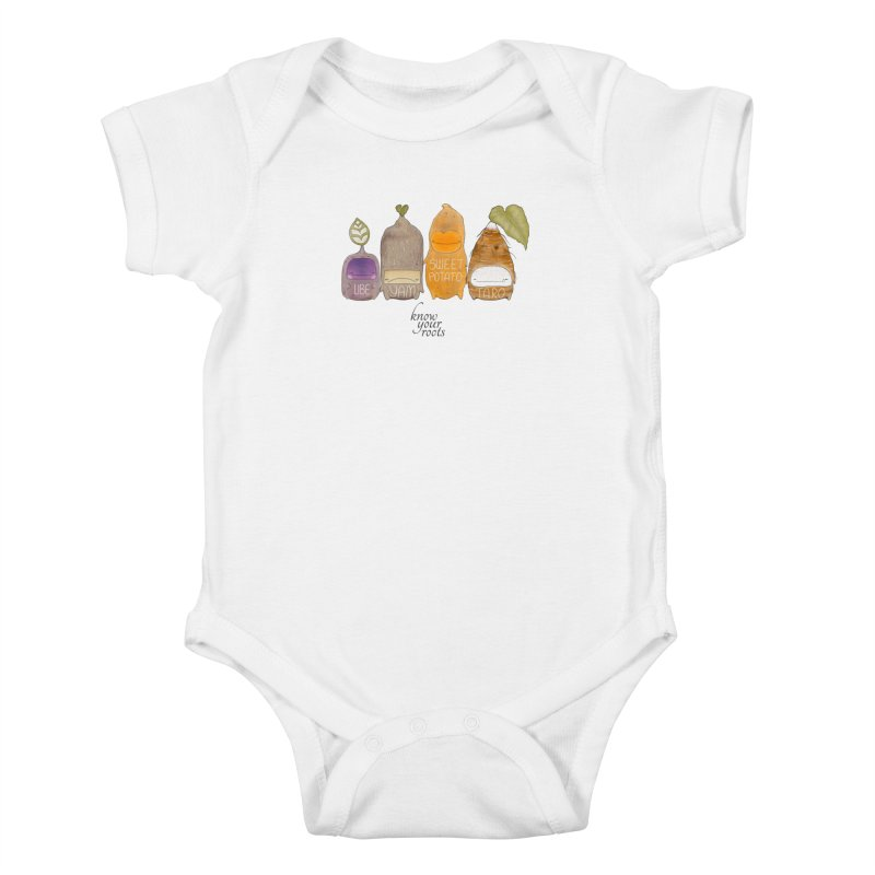 Know Your Roots Kids Baby Bodysuit by The Lola x Kenneth Collaboration