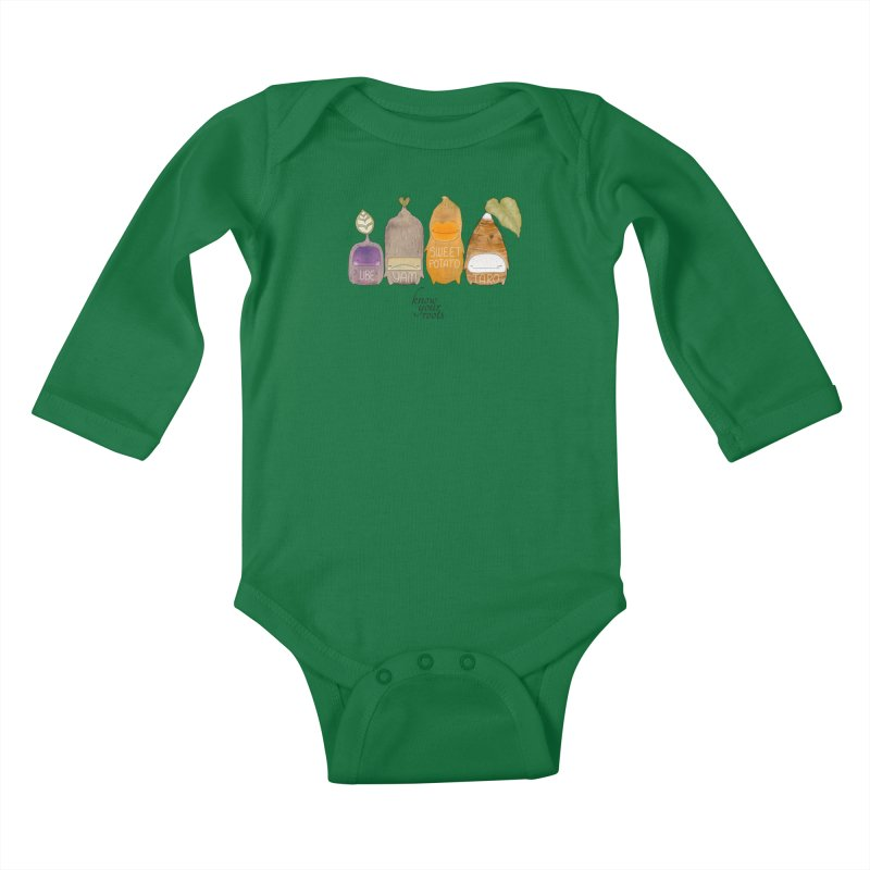 Know Your Roots Kids Baby Longsleeve Bodysuit by The Lola x Kenneth Collaboration