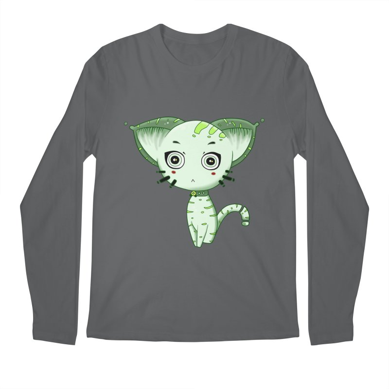 Ufo Cat by Lolita Tequila Men's Longsleeve T-Shirt by lolitatequila's Artist Shop