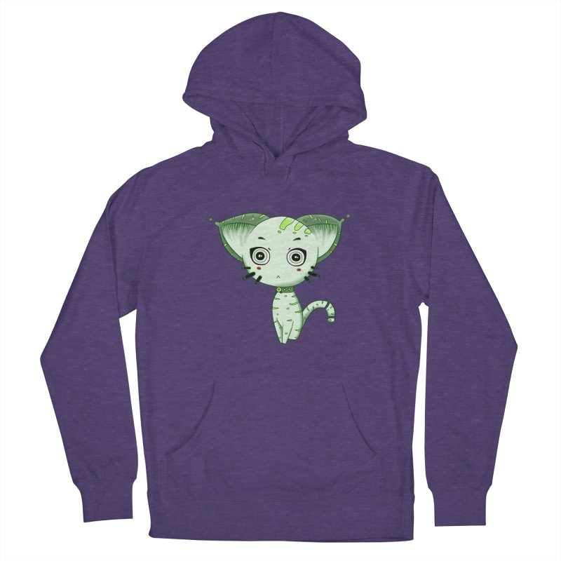 Ufo Cat by Lolita Tequila Men's French Terry Pullover Hoody by lolitatequila's Artist Shop