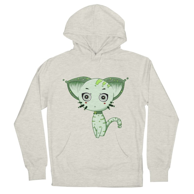 Ufo Cat by Lolita Tequila Women's French Terry Pullover Hoody by lolitatequila's Artist Shop