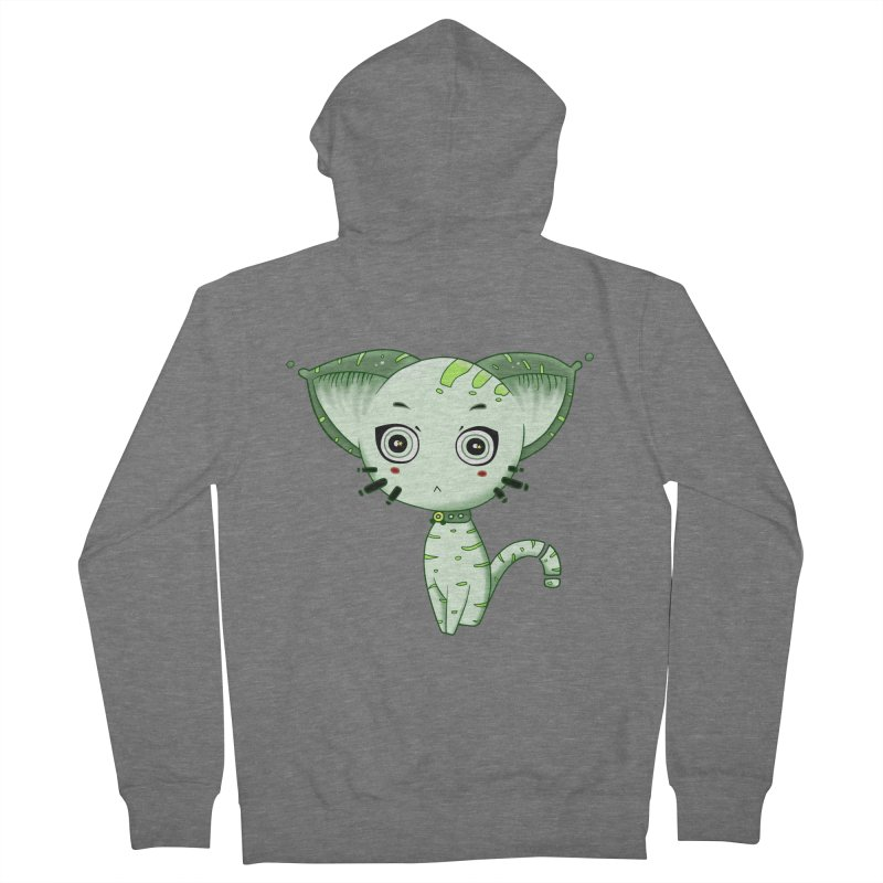 Ufo Cat by Lolita Tequila Women's French Terry Zip-Up Hoody by lolitatequila's Artist Shop