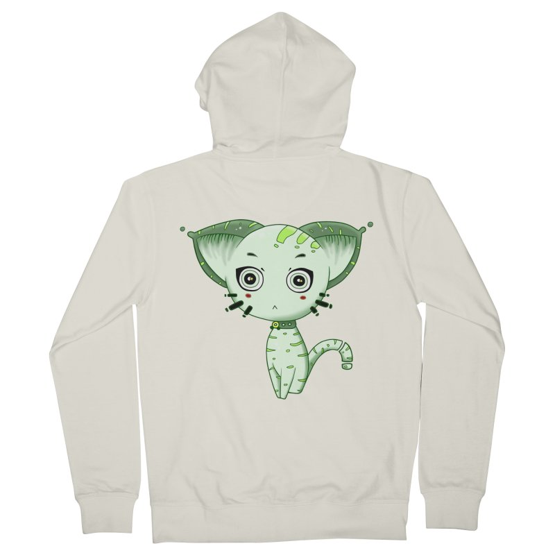 Ufo Cat by Lolita Tequila Women's Zip-Up Hoody by lolitatequila's Artist Shop