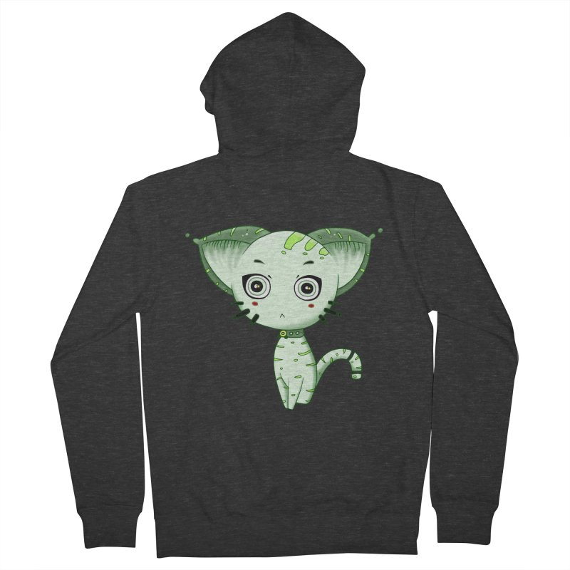 Ufo Cat by Lolita Tequila Men's Zip-Up Hoody by lolitatequila's Artist Shop