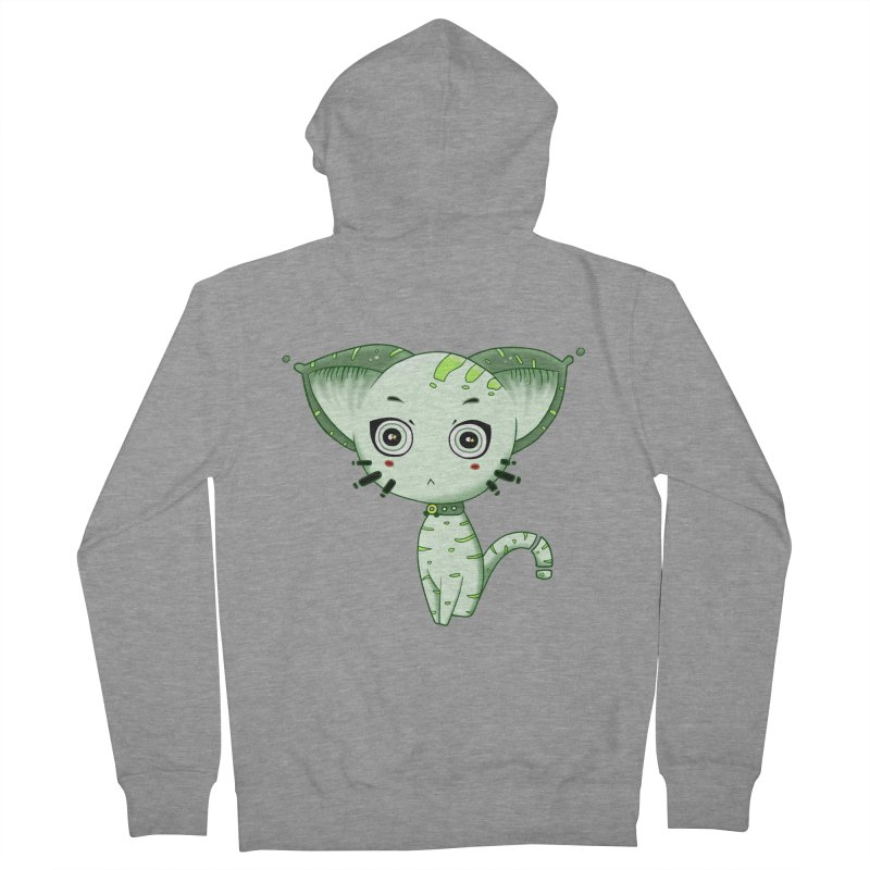 Ufo Cat by Lolita Tequila Men's French Terry Zip-Up Hoody by lolitatequila's Artist Shop